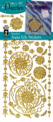 Stickers Gold Aqua Lily