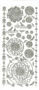 Stickers Silver Aqua Lily