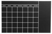 Mishu M184CB 60cm . x 90cm . Chalkboard Wall Stickers - Calendar