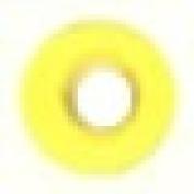 Round Eyelet 0.3cm Bright Yellow