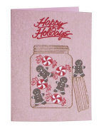Mounted Rubber Stamp Happy Holidays
