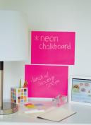Peel & Stick Chalkboard Sheets Neon Pink 2-Pack 23cm x 30cm