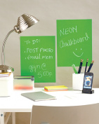 23cm x 30cm Peel & Stick Chalkboard Sheets Neon Green 2-Pack