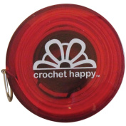 Crochet Happy Tape Measure-Red