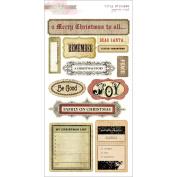 Joyeux Noel Cardstock Stickers 15cm x 28cm -Titles