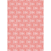 The Mitford Collection Hvy-Weight Background Card Sheet 8x12-Filigree Coral