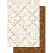 Patchwork Pals Heavyweight Background Card Sheets 20cm x 30cm -Full Patch Pearl Sepia/Cream 2/Pkg