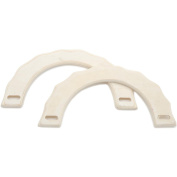 Purse/Tote Handles 2/Pkg-Unfinished Light Wood