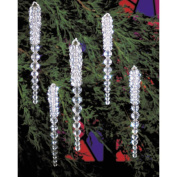 Holiday Beaded Ornament Kit-Sparkling Icicles 9.5cm Makes 30