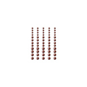 Self-Adhesive Pearls 60/Pkg-Chocolate Delight