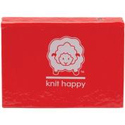 Knit Happy Micro Sticky Novels-Red