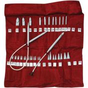 Denise Knit & Crochet Needles In A Della Q Case-Red