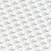 Jumbo Gift Wrap 80cm X4.9m Roll-Love Weddings