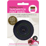 Tape Writer Font Wheel-Holiday Icons