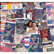 Ticket & Photo 30cm x 30cm Scrapbook-Philadelphia Phillies