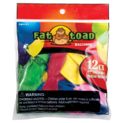 Fat Toad Latex Balloons 30cm 12/Pkg-Assorted