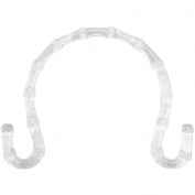 Plastic Bamboo-Look Purse Handle 18cm x 13cm Curled Ends-Clear