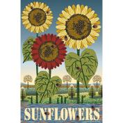 Garden Flags-Sunflowers