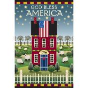 Garden Flags-God Bless America