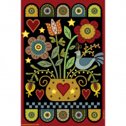 Garden Flags-Pennyrug Hearts & Flowers