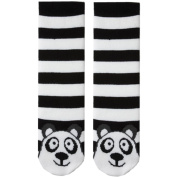 Tubular Novelty Socks-Panda -Black & White Stripe