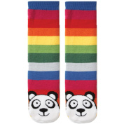 Tubular Novelty Socks-Panda -Multi Stripe