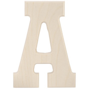 Baltic Birch University Font Letters & Numbers 13cm -Letter A