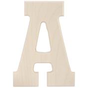 Baltic Birch University Font Letters & Numbers 13cm -Letter A