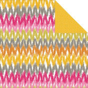 Blomma Double-Sided Cardstock 30cm x 30cm -Chevron Pink