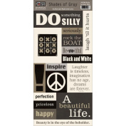 Shades Of Grey Accessory Sheet 14cm x 30cm -Be You
