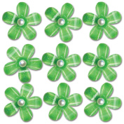 Pearl Blossoms 9/Pkg-Green