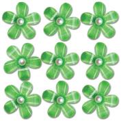 Pearl Blossoms 9/Pkg-Green