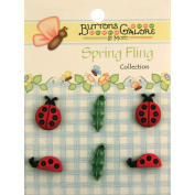 Spring Buttons-Ladybugs