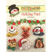 Holiday Buttons-Santa & Friends