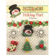 Holiday Buttons-Winter Wonderland