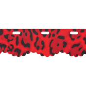 Red Heart Boutique Sassy Fabric Yarn-Red Leopard