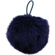 """Rabbit Fur Pompon 4"""" (10cm) 4/Pkg-Blue"""