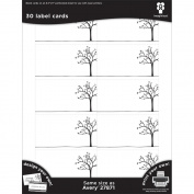 Black Ice Laser Printable Label Cards 5.1cm x 8.9cm 30/Pkg-Tree Line