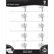Black Ice Laser Printable Label Cards 5.1cm x 8.9cm 30/Pkg-Tree Line