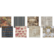 Eclectic Elements 15cm x 15cm Fabric Pack By Tim Holtz 8/Pkg-Labels