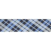 Novelty Fashion Bias 20mm X 22 Yards-Blue Plaid