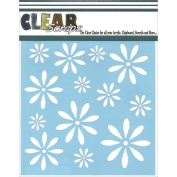 Clear Scraps Stencils 15cm x 15cm -Daisies