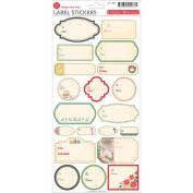 Silent Night Cardstock Stickers 14cm x 30cm -Label