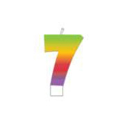 Rainbow Candle 1/Pkg-Numeral 7