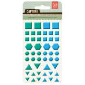 Capture Candy Buttons Epoxy Stickers-Blue & Green Shapes