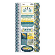 Construction Cardstock Stickers-Caution Borders