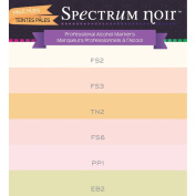 Spectrum Noir Double End Assorted Pale Hues Alcohol Art Marker Pen Set of 6