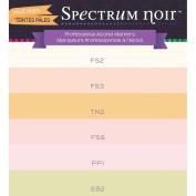 Spectrum Noir Double End Assorted Pale Hues Alcohol Art Marker Pen Set of 6