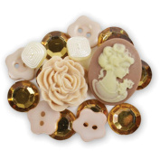 Favourite Findings Buttons-Vintage Collectibles Assorted 18/Pkg