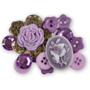 Favourite Findings Buttons-Romantic Dreams Assorted 22/Pkg